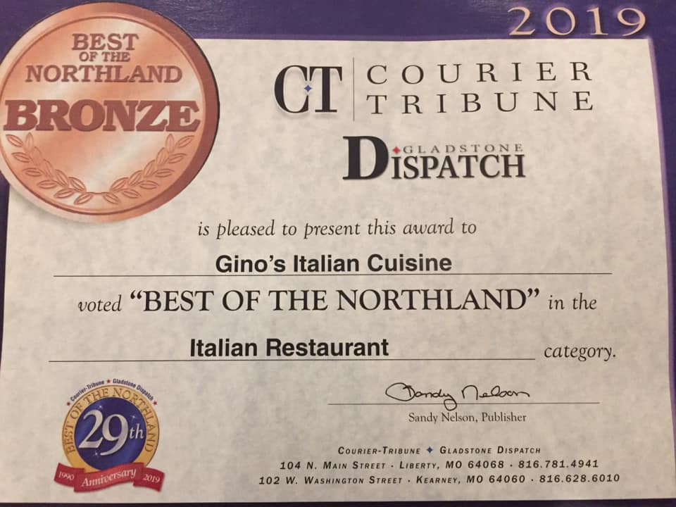 Best Italian Restaurant in the Northland 2019